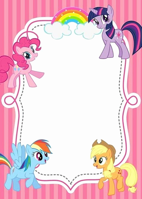 My Little Pony Invitation Ideas Awesome Free Printable My Little Pony Invitations