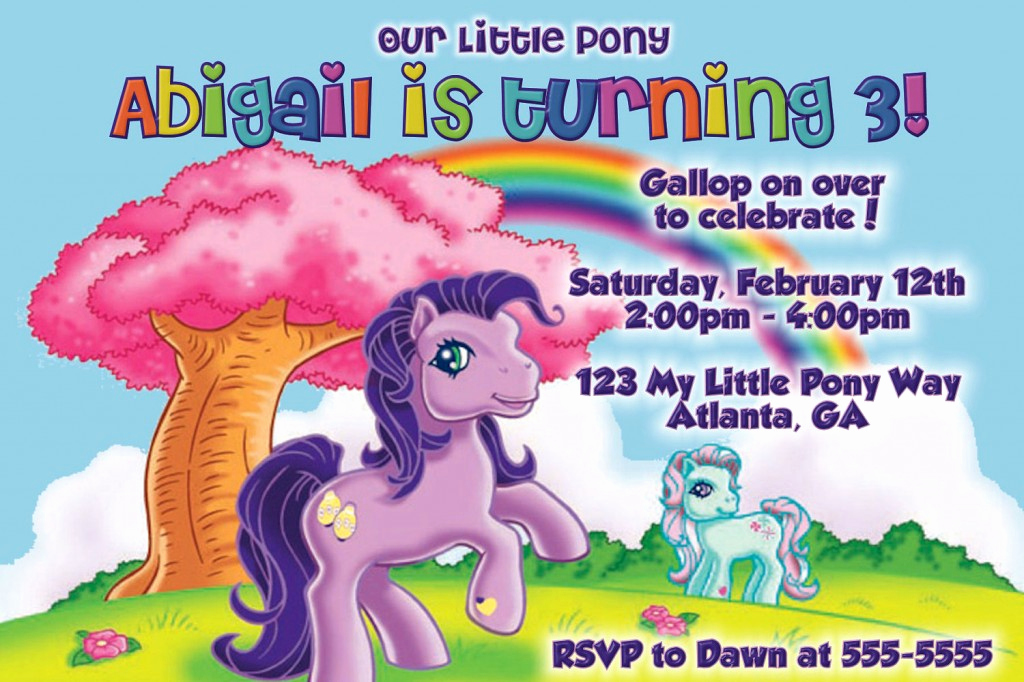 My Little Pony Invitation Ideas Awesome My Little Pony Birthday Invitations Ideas for Girl
