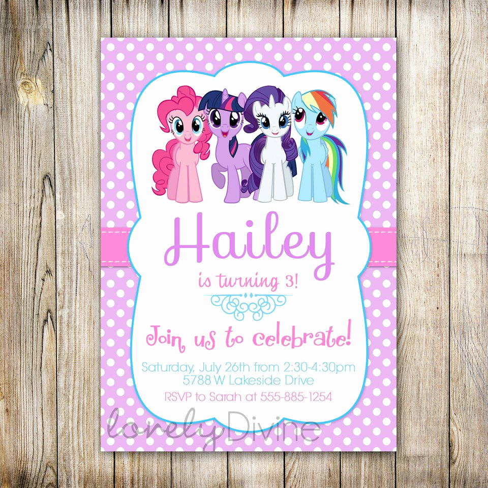 My Little Pony Invitation Ideas Awesome My Little Pony Personalized Birthday Invitations