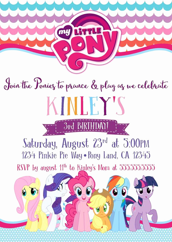 My Little Pony Invitation Ideas Beautiful 1000 Ideas About My Little Pony Invitations On Pinterest