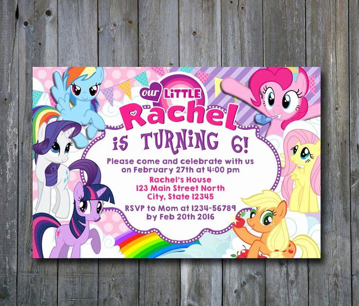 My Little Pony Invitation Ideas Beautiful 25 Best Ideas About My Little Pony Invitations On
