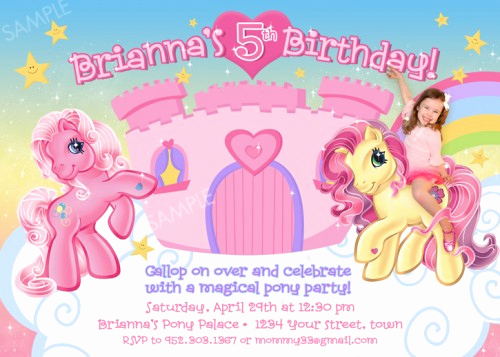 My Little Pony Invitation Ideas Beautiful My Little Pony Birthday Invitations Ideas for Girl