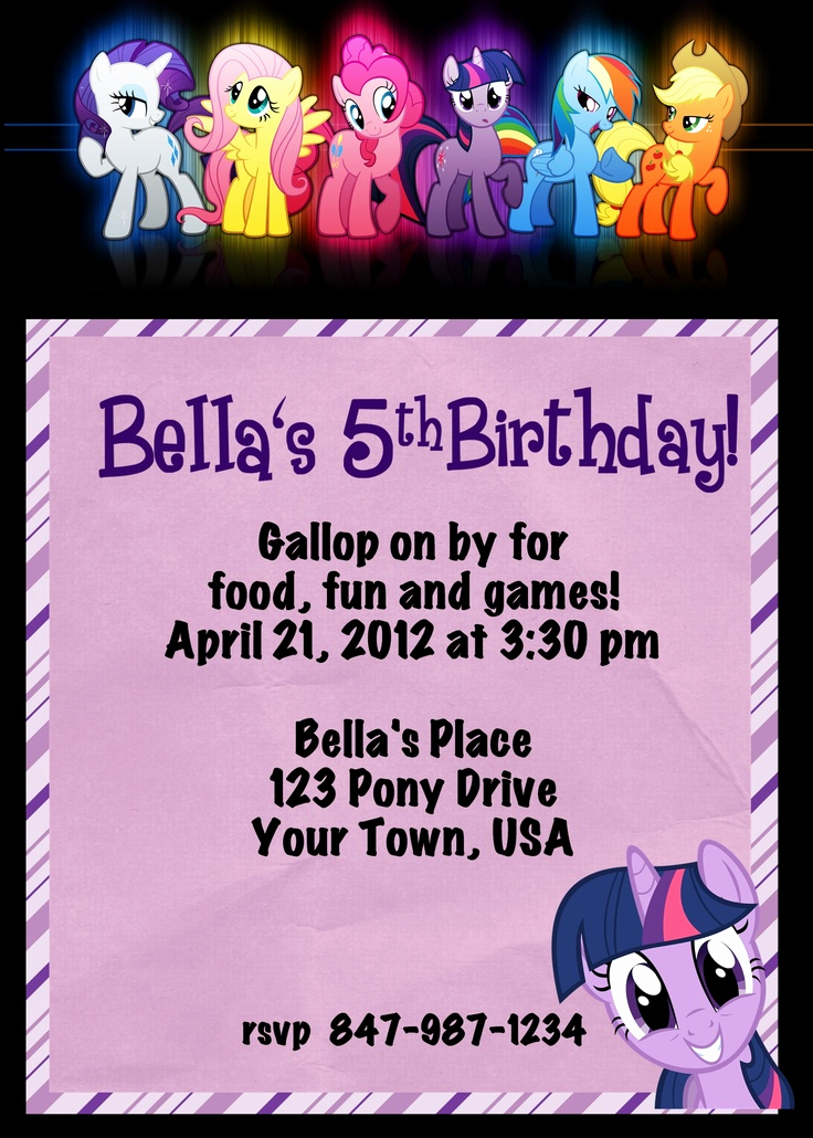My Little Pony Invitation Ideas Best Of 13 Best My Little Pony Party Images On Pinterest