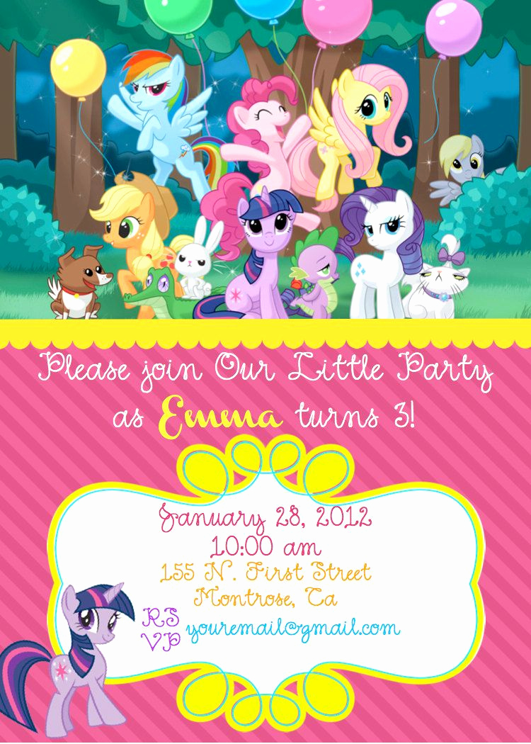 My Little Pony Invitation Ideas Best Of My Little Pony Birthday Invite $10 00 Via Etsy