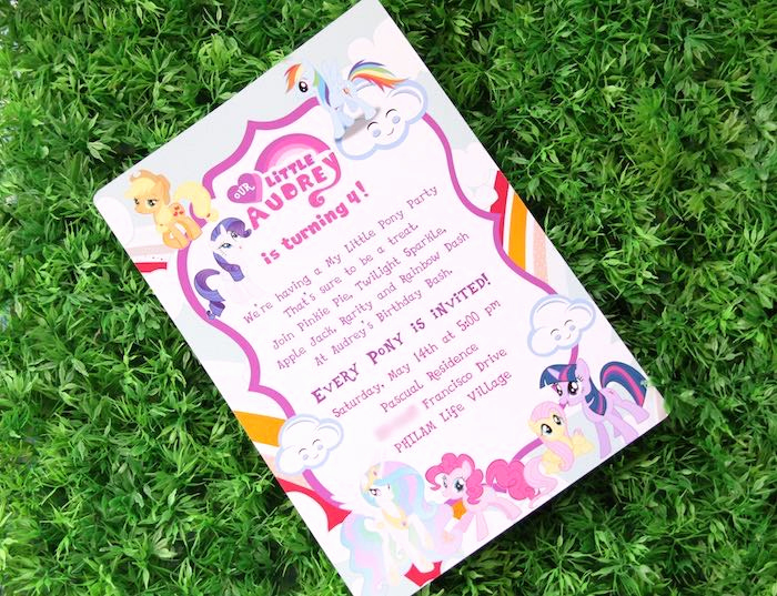 My Little Pony Invitation Ideas Fresh Kara S Party Ideas My Little Pony Pastel Birthday Party
