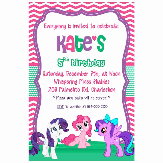 My Little Pony Invitation Ideas Lovely My Little Pony Birthday Invitation by Iveyloudesigns