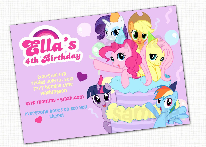 My Little Pony Invitation Ideas Lovely My Little Pony Invitation Printable by Papertinker On Etsy