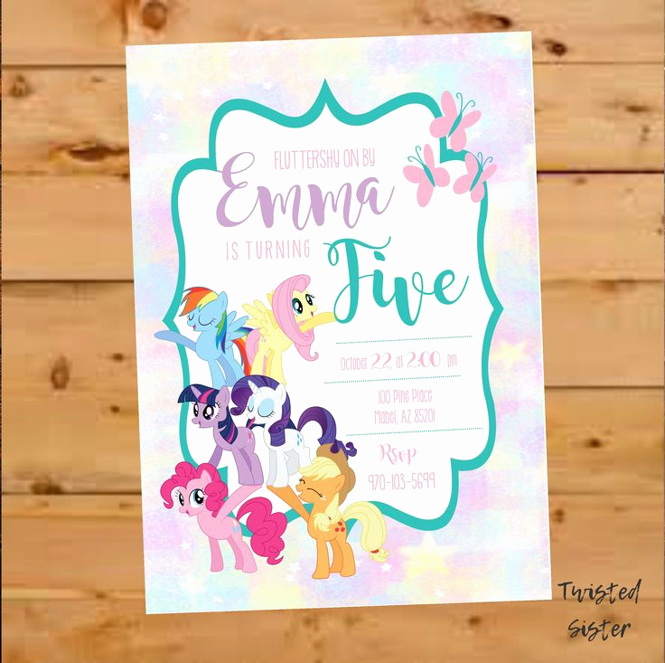 My Little Pony Invitation Ideas New Best 25 My Little Pony Invitations Ideas On Pinterest