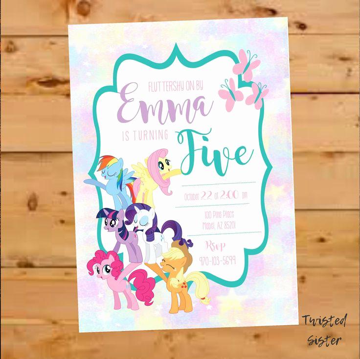 My Little Pony Invitation Ideas New Best 25 My Little Pony Invitations Ideas On Pinterest