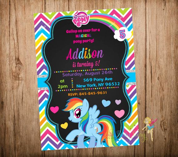 My Little Pony Invitation Ideas Unique Best 25 Rainbow Dash Party Ideas On Pinterest