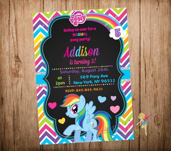 My Little Pony Invitation Ideas Unique Best 25 Rainbow Dash Party Ideas On Pinterest