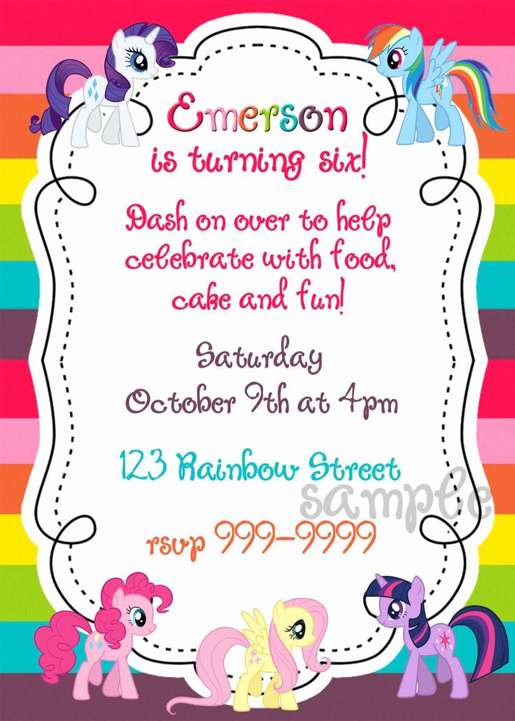 My Little Pony Invitation Inspirational My Little Pony Printable Birthday Invitation