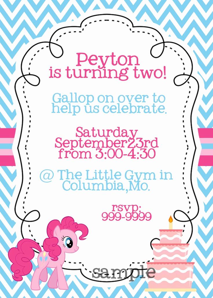 My Little Pony Invitation Luxury Updated Free Printable My Little Pony Birthday