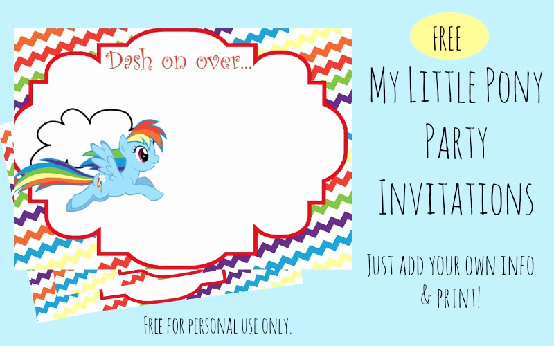 My Little Pony Invitation Template Awesome Free Printable Rainbow Dash Party Invitations Our