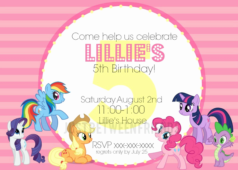 My Little Pony Invitation Template Awesome My Little Pony Invitations