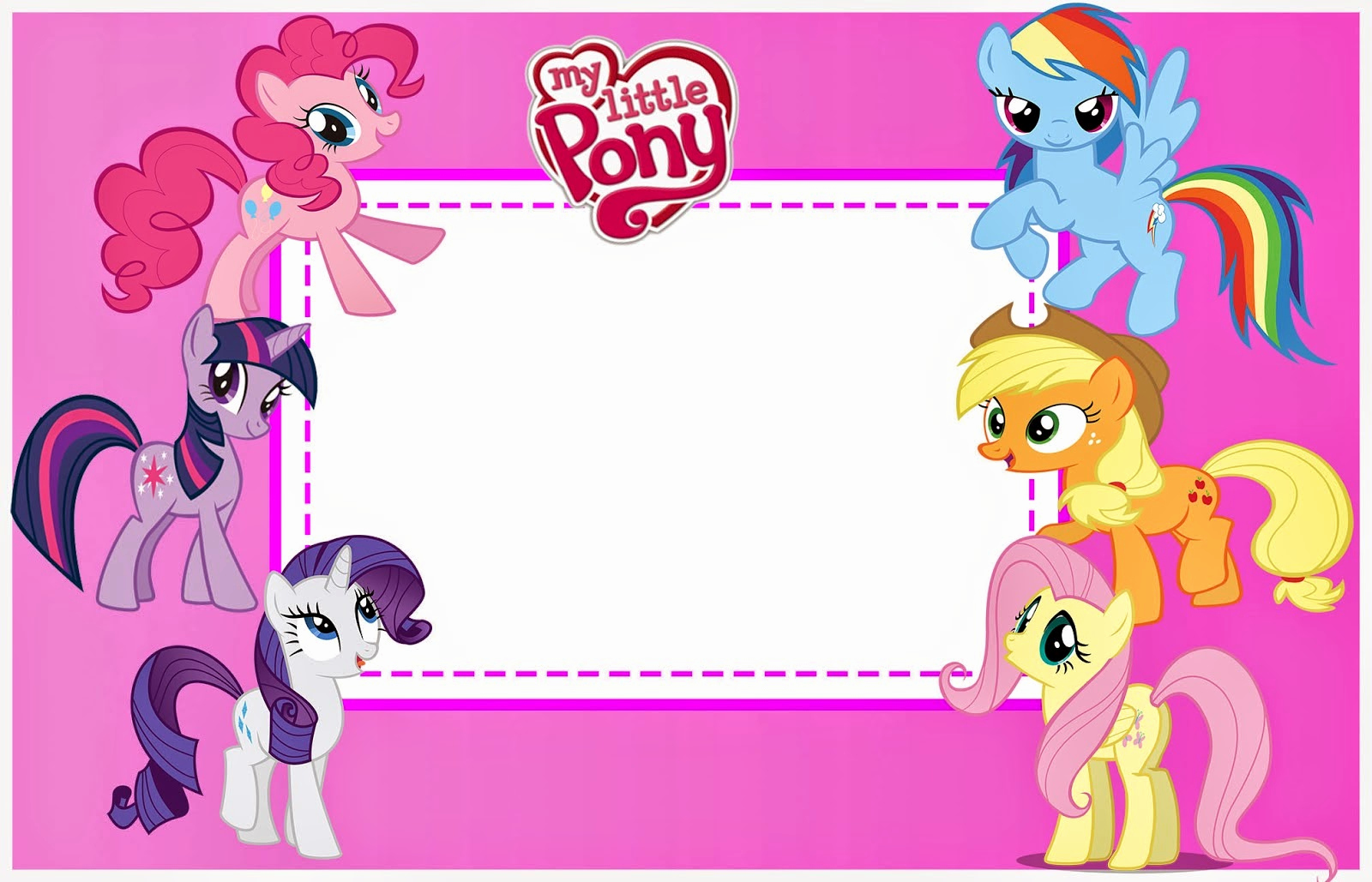 My Little Pony Invitation Template Awesome My Little Pony Party Free Printable Invitations