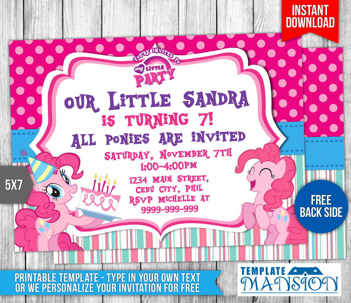 My Little Pony Invitation Template Beautiful My Little Pony Birthday Invitation Template 3 by