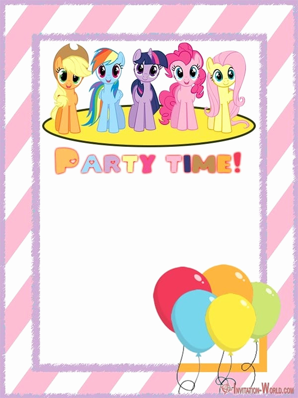 My Little Pony Invitation Template Best Of My Little Pony Invitation Templates 2019