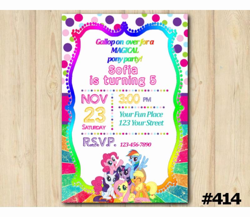 My Little Pony Invitation Template Elegant My Little Pony Birthday Invitation My Little Pony
