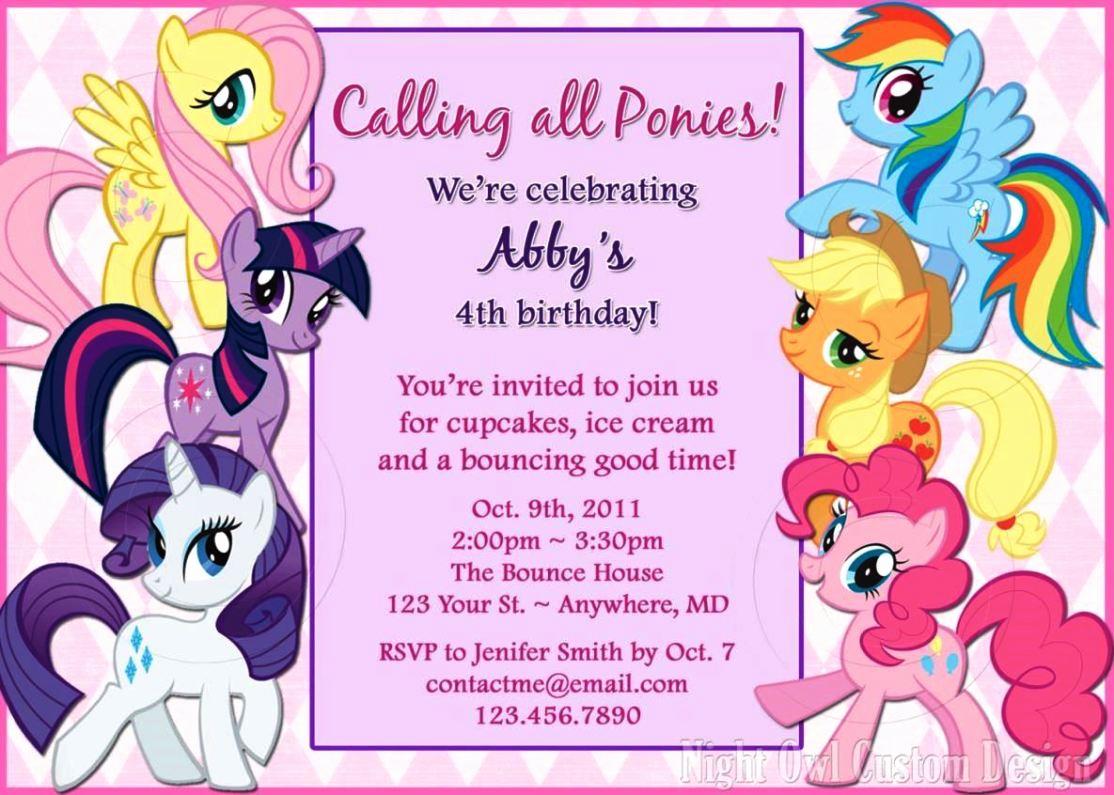 My Little Pony Invitation Template Elegant My Little Pony Invitation Template Sampletemplatess