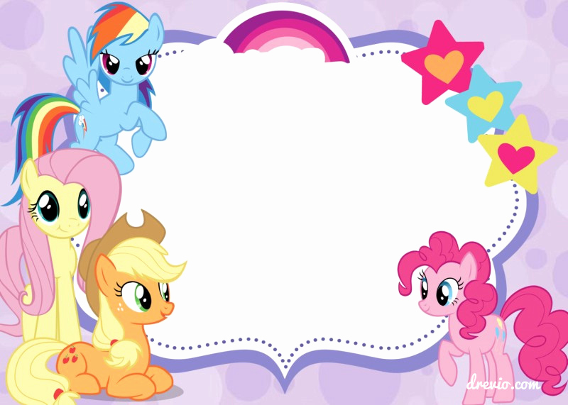 My Little Pony Invitation Template Fresh Updated Free Printable My Little Pony Birthday