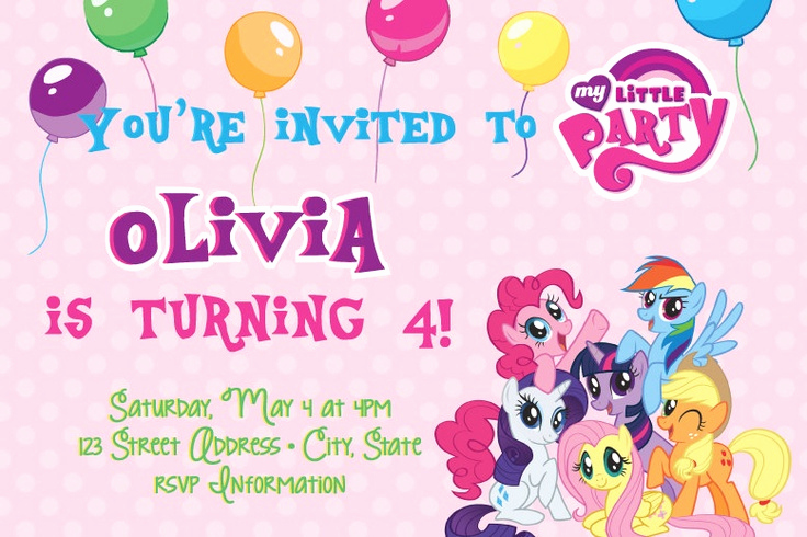 My Little Pony Invitation Template Lovely Free Printable My Little Pony Birthday Invitations