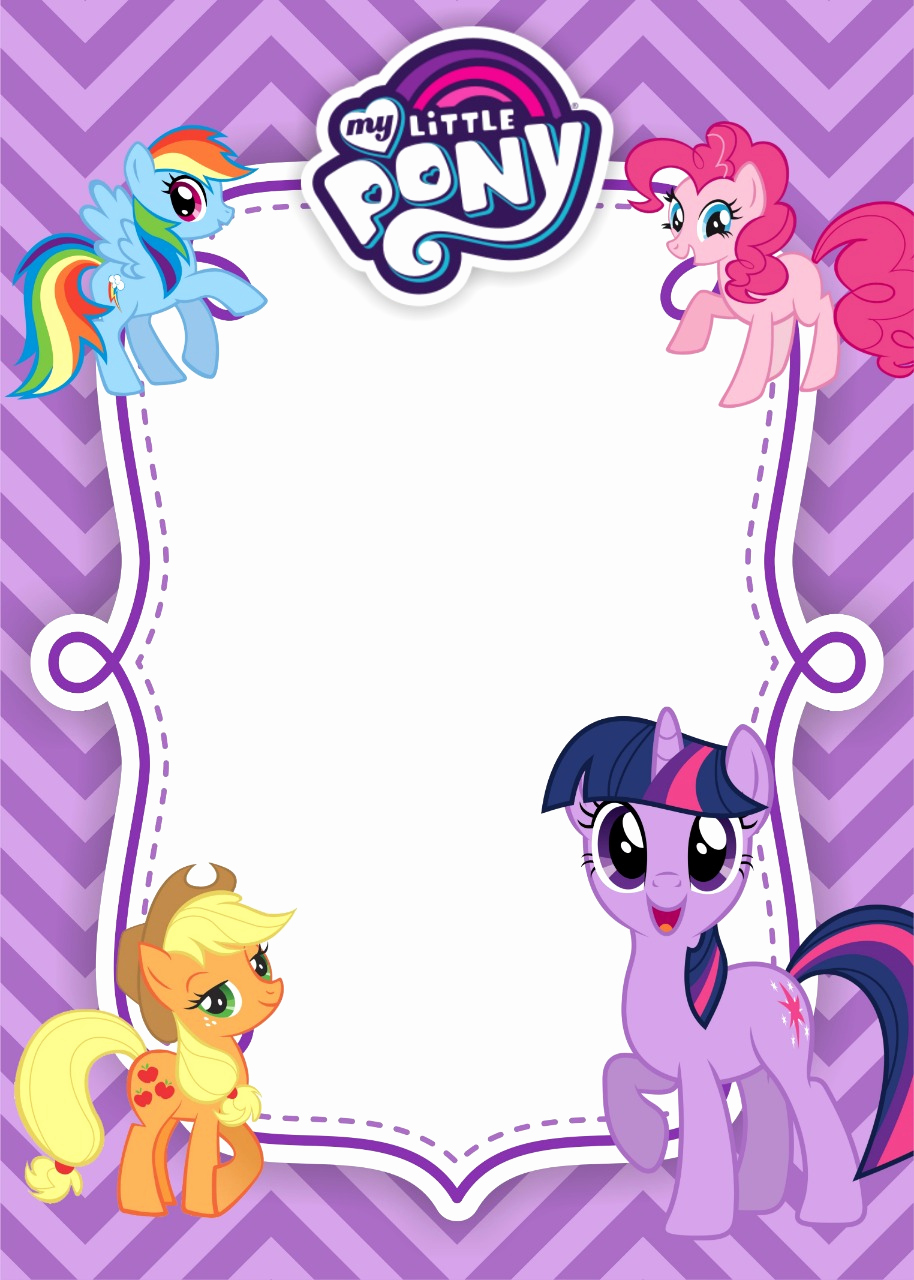 My Little Pony Invitation Template Lovely My Little Pony Birthday Invitation Template – Equestria