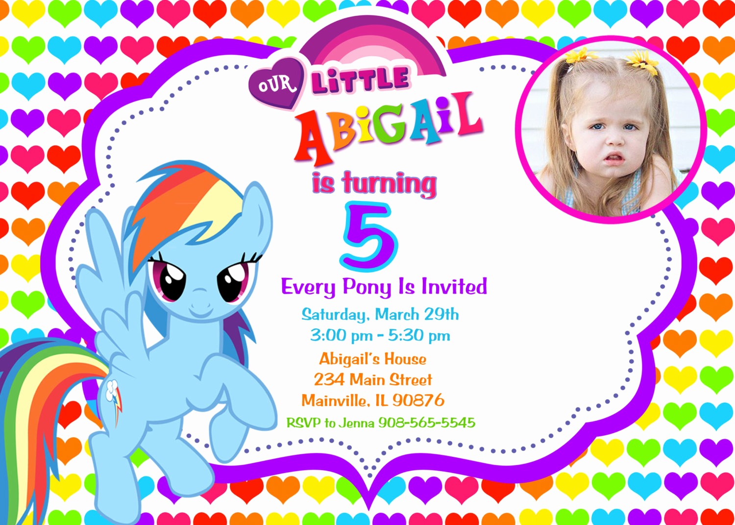 My Little Pony Invitation Template Lovely My Little Pony Birthday Party Invitations