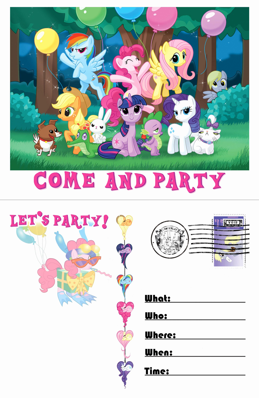 My Little Pony Invitation Template Lovely Pony Invitation Template by Moviefreaq On Deviantart