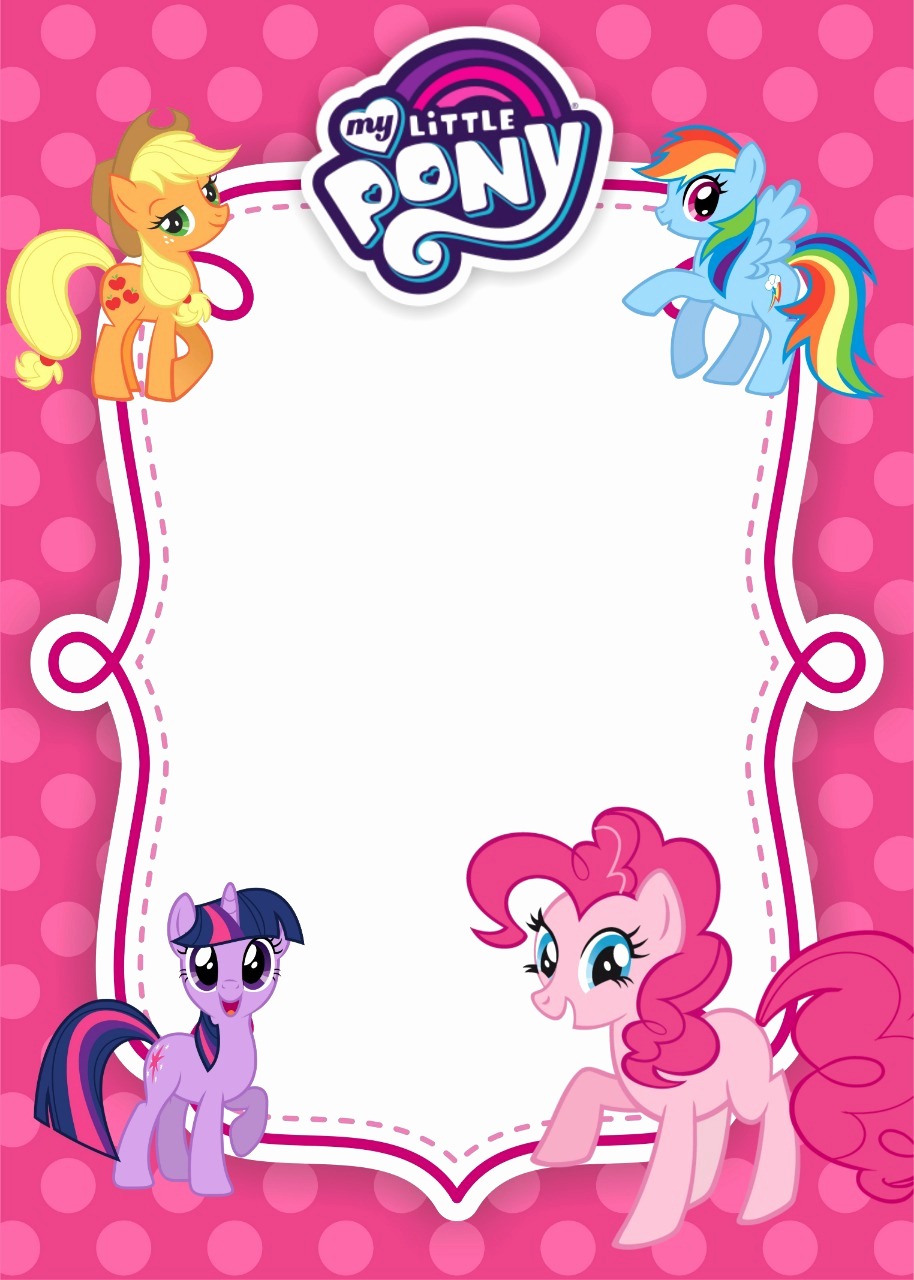 My Little Pony Invitation Template New My Little Pony Birthday Invitation Template – Equestria