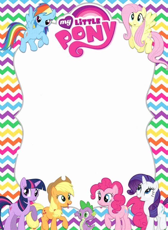 My Little Pony Invitation Template New My Little Pony Invitation Template