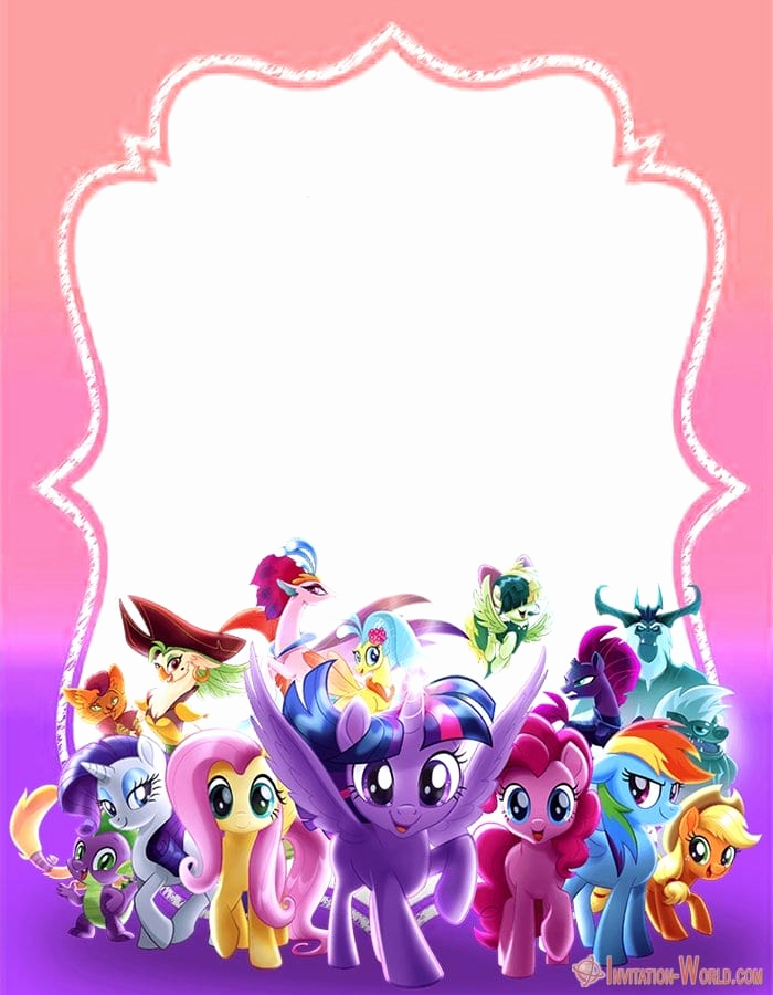 My Little Pony Invitation Template New My Little Pony Invitation Templates 2019
