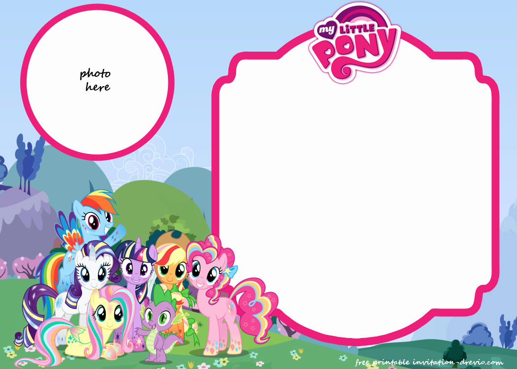 My Little Pony Invitation Template Unique My Little Pony Birthday Invitation Template – Equestria
