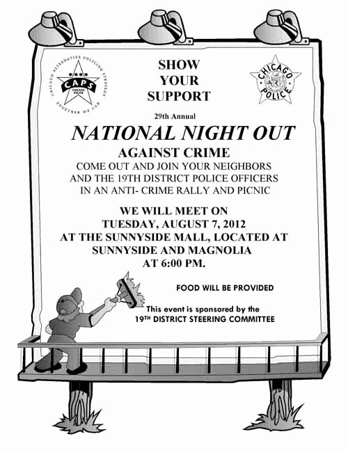 National Night Out Invitation Template Awesome Uptown Update Cookout the Sunnyside Mall for National