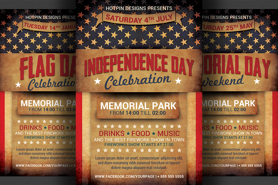 National Night Out Invitation Template Beautiful 4th July Independence Day Flyer Flyer Templates On
