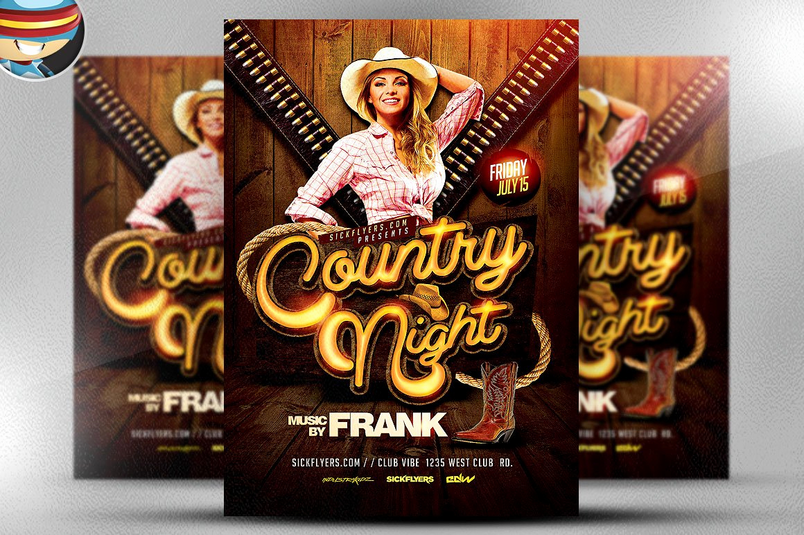 National Night Out Invitation Template Beautiful Country Night Western Flyer Template Flyer Templates