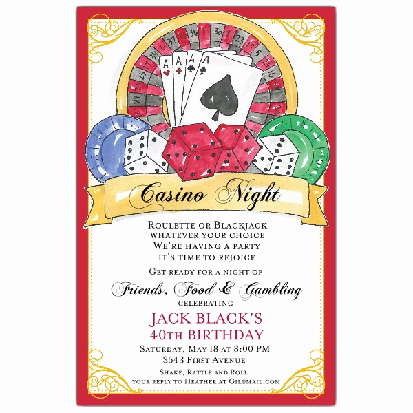 National Night Out Invitation Template Best Of Casino Birthday Invitations