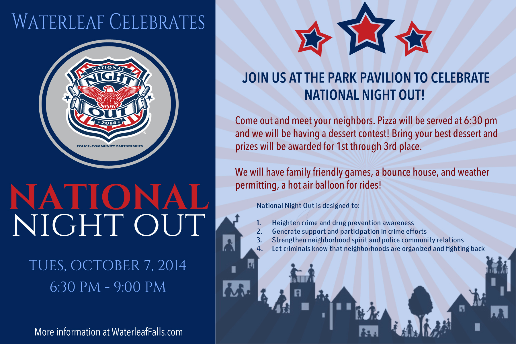 National Night Out Invitation Template Best Of Munity event Flyers