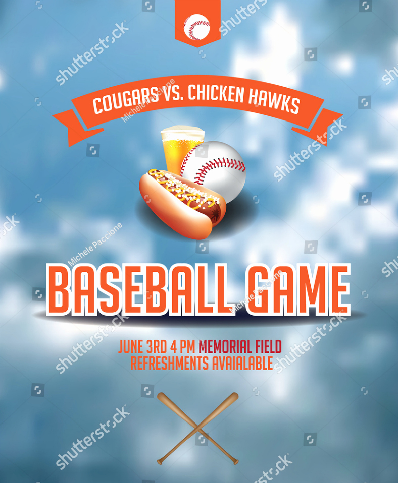 National Night Out Invitation Template Fresh 15 Baseball Party Invitation Designs & Templates Psd