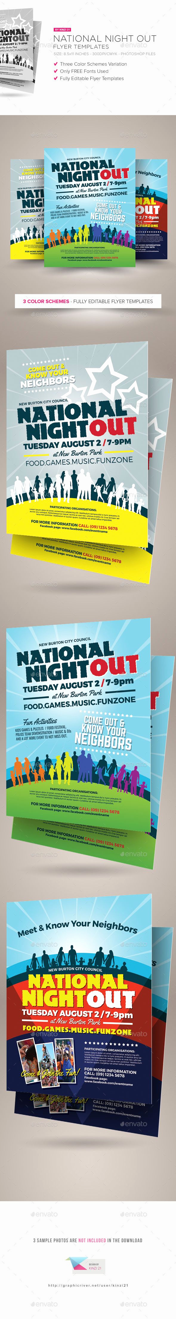 National Night Out Invitation Template Inspirational National Night Out Flyer Templates