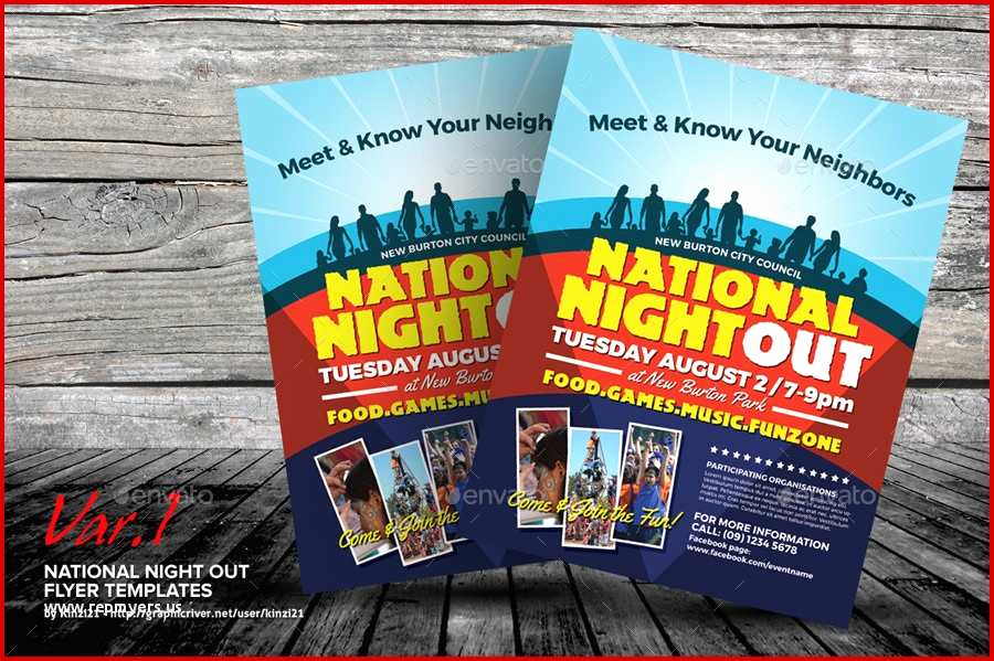 National Night Out Invitation Template New 43 Prizewinning National Night Out Flyer Template