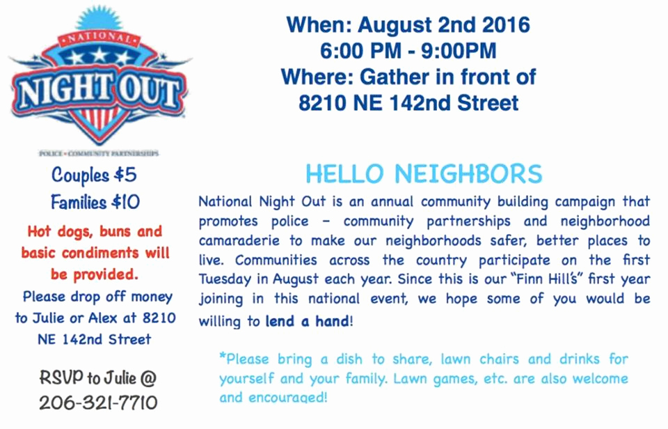 National Night Out Invitation Template New the National Night Out Party is today Aug 2nd