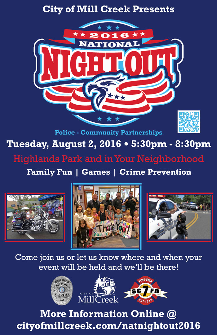 National Night Out Invitation Template Unique City Of Mill Creek to Hold August 2nd National Night Out
