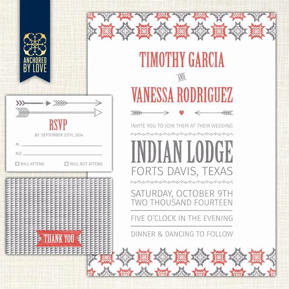 "Native American Wedding Invitation Elegant Items Similar to Wedding Invitation ""native American"