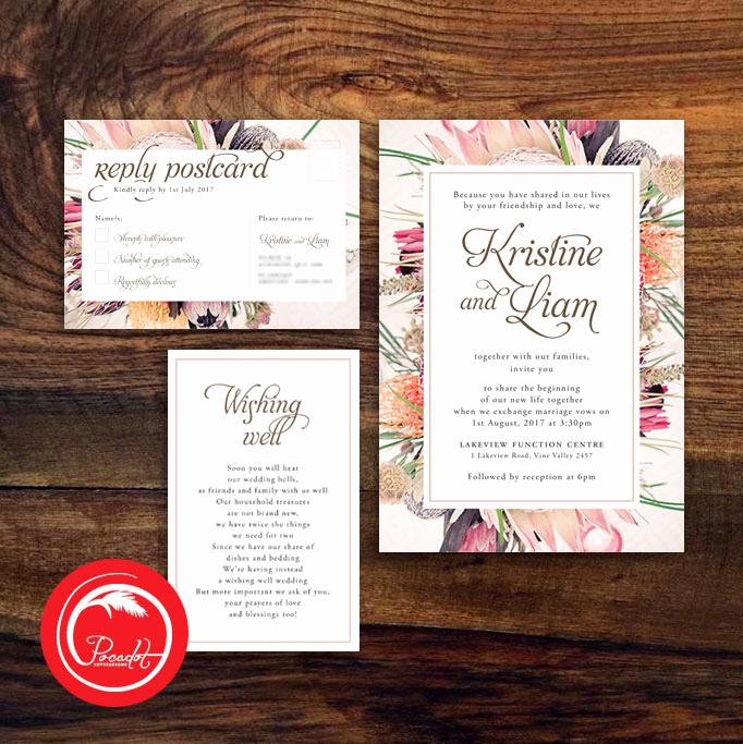 Native American Wedding Invitation New Native Australian Floral Wedding Invitation Set Pocadot