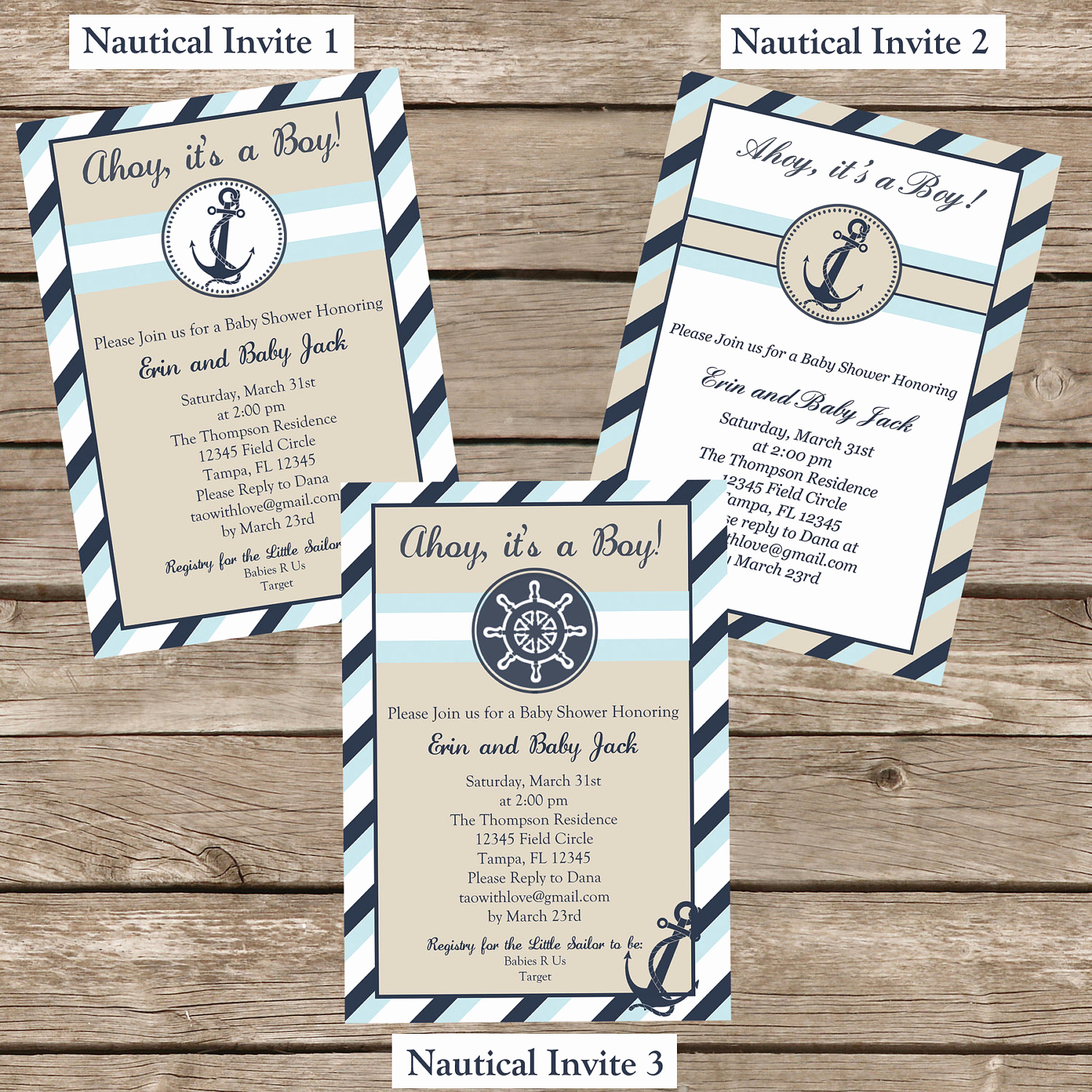 Nautical Baby Shower Invitation Template Awesome Nautical Baby Shower Invitation Printable