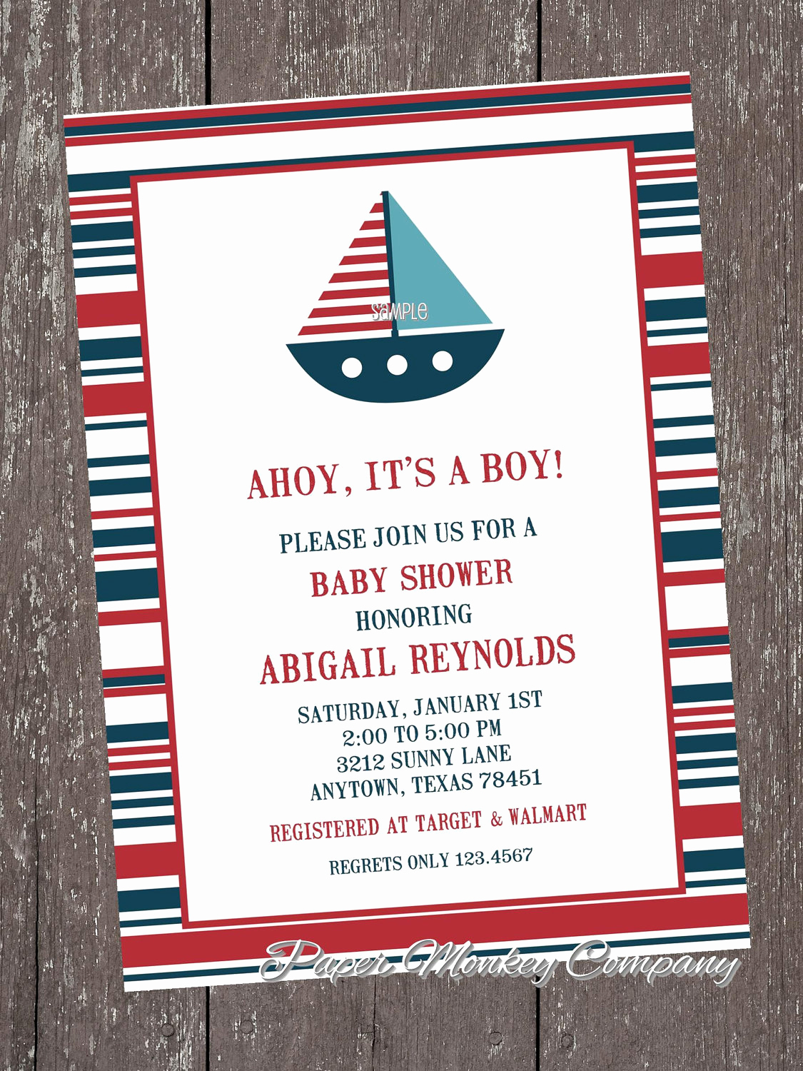 Nautical Baby Shower Invitation Template Elegant Nautical Sailboat Baby Shower Invitations