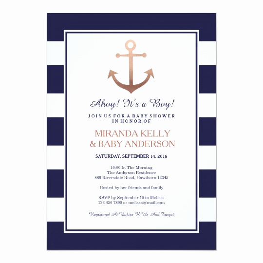 Nautical Baby Shower Invitation Template Fresh Nautical Baby Shower Invitation Nautical Invite