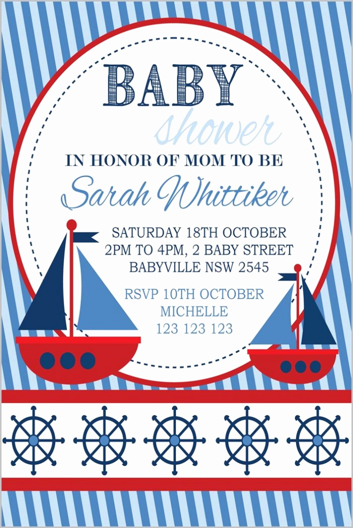 Nautical Baby Shower Invitation Template Unique Free Editable Baby Shower Invitation Templates Microsoft