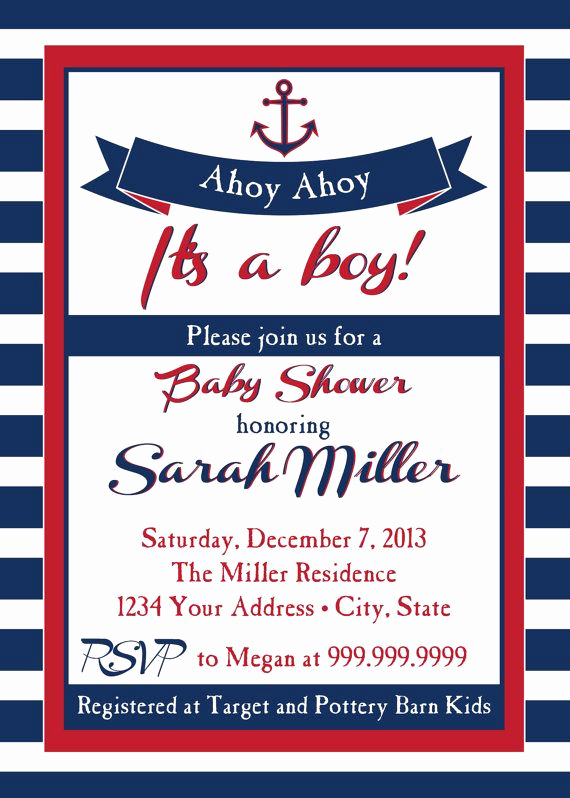 Nautical Baby Shower Invitation Templates Elegant Nautical Baby Shower Invitations Cheap Nautical Baby